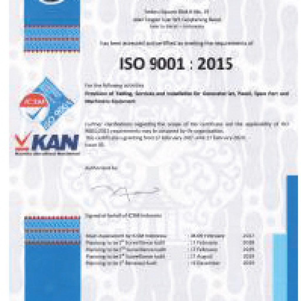 iso 9001 genset abc power