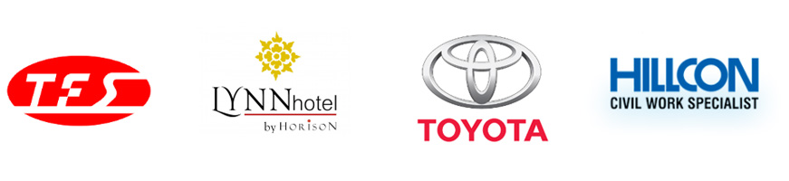our client tes, IYNN hotel, Toyota